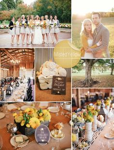 Fall Wedding Colors 2014 Trends | Misted Yellow