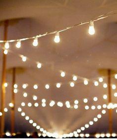 bistro lights.
