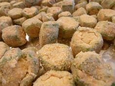 Oven-Fried Okra - Cookin' Cowgirl   Baked, Cajun-seasoned with garlic. Perfect recipe!