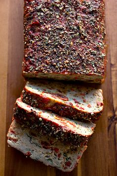 Italian-Style Turkey Meatloaf with Fresh Herbs and Rich Tomato Glaze