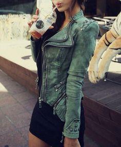 denim racer jacket...fashion