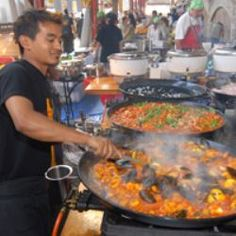 Paella at Suzuki Night Market - Queen Victoria Market Melbourne Australia