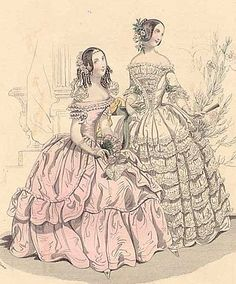 costum, full skirts, fashion plate, dresses, historical clothing, histor cloth, cloth 1800s, victorian era, canes
