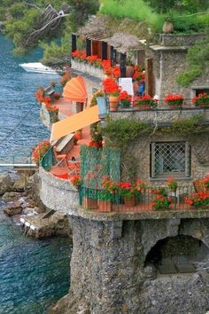 seasid hous, houses, beauti, portofino, seaside, travel, place, italy, itali