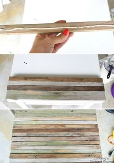 Diy Side Table With Reclaimed Wood   Shelterness