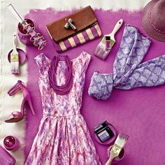 Wear Radiant Orchid This Spring. Check out Southern Living to get the look.