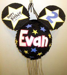 Custom Mickey Mouse Pull String Pinata by PinataMama on Etsy, $60.00