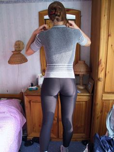 She always complains that her bum is too big.