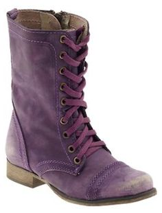 #purple military boots http://rstyle.me/n/jwikzr9te