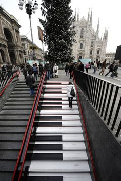 milan, stairs, musicals, street art, staircas, place, italy, pianos, itali