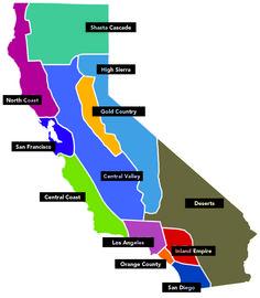 CA Regions Tear Art Map 4th Grade CA History Pinterest