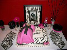 Pink Zebra baby shower! SO cute.
