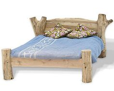 cozy driftwood bed