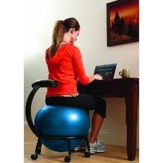 balls, office desks, balanc ball, posture exercises, exercise ball, ball chair, office chairs, home offices, desk chairs