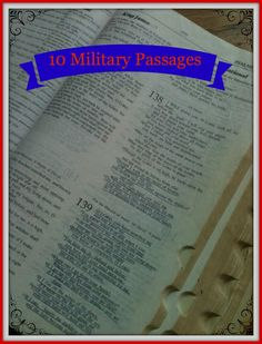 10 Bible Passages for Our Military and Their Loved Ones