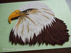 Papírvilág Quilled Eagle