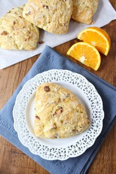 orange almond scones