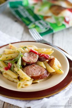 Recipe for Skillet Pasta with Sausage