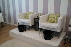 Love this photo! Pedicure stations at LASH in Salt Lake City.