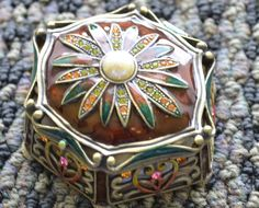 Vintage Hexagonal Trinket Box