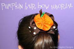 Pumpkin Hair Bow Tutorial