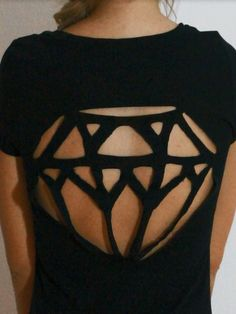 diamond cut-out.
