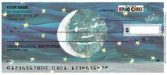 Checks by Custom Direct- Personalized check available with artwork from Eric Carle's celestial theme. Available in Wallet Style & Side Tear checks.