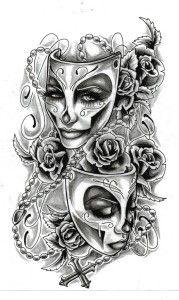 tattoo ideas, men tattoos, tattoo sketches, art, masks, tattoo design, a tattoo, feminine tattoos, ink