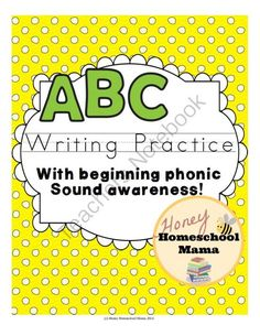 ABC Beginner Writer�s Worksheets - Practice Writing All 26 Letters! from HoneyHomeschoolMama on TeachersNotebook.com -  (26 pages)  - These fun worksheets help beginner writers form their letters, practice their letters, and make phonics sound connections with the biggining word sound, except x which uses words with that end sound.