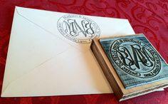 Monogram return address stamp