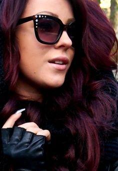 Burgundy hair color!!