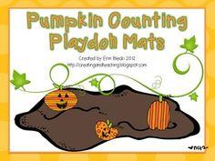 Pumpkin Counting Playdoh Mats