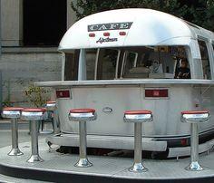 Airstream Cafe in Paris