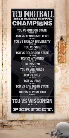 TCU Football 2010 Perfect Season Banner.