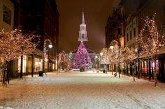 favorit place, christmas time, winter, burlington vt, church street, churches, vermont, homes, christmas photos