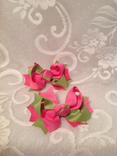 2 Tone Hair Bow by debbiewomack on Etsy, $5.99