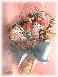 Pink Roses Tussie Mussie