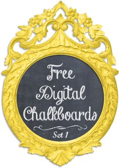 Shabby Blogs: Vintage Freebie with Keren: Shabby Digital Chalkboards