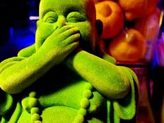 A happy green-velvet Buddha- what more could a girl want? #Buddha
