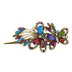 Fashion Multicolor Gem Barrette For Women