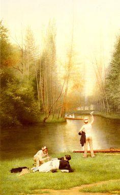 Georges Croegaert-Flirtation 1885 (oil on canvas)