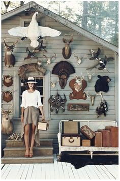 skirt, animals, antler, animal heads, dreams, taxidermy, outfit, dream houses, hat