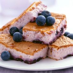 Weight Watcher snacks - Blueberry Squares