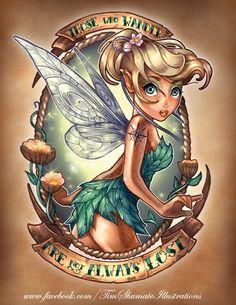 Disney Princess Pin Up Girl Tattoo - love Tinkerbell!