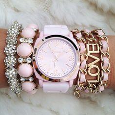 fashion watches, woman fashion, arm party, style, bracelets, accessori, pink, jewelri, arm candies