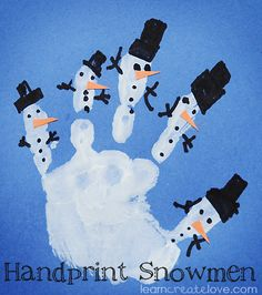 Handprint snowman craft
