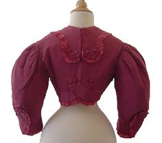 Pink Jacket with Velvet Covered Buttons, 19th century pink jacket