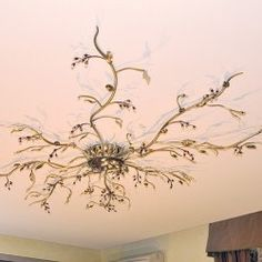 Ceiling on pinterest ceiling lamps murano glass and - Tree branch ceiling light ...