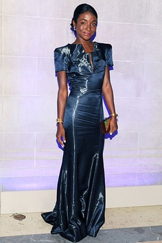 CR Fashion Book Magazine Launch at the Frick Collection - Genevieve Jones in Armani