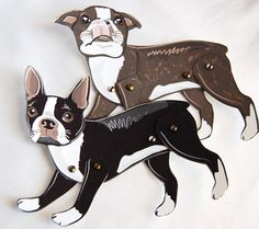 Boston Terrier Paper Dolls from africangrey etsy shop